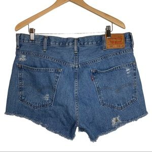 Levi's 550 Upcycled Distressed Jean Shorts W38
